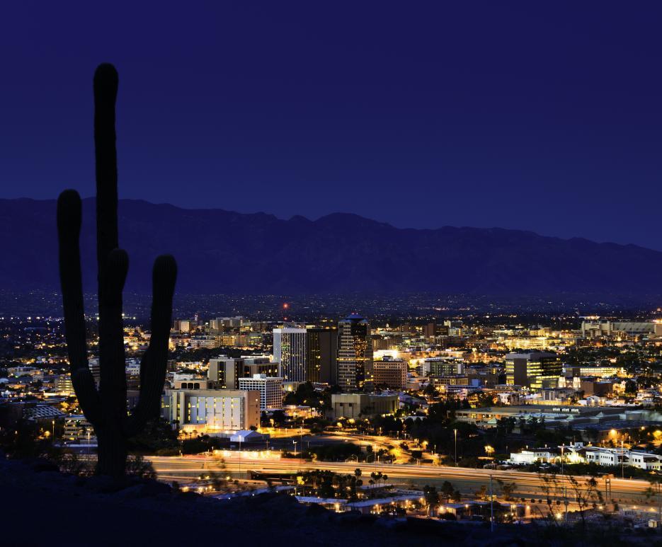 Cityscape - Night - Tucson, AZ