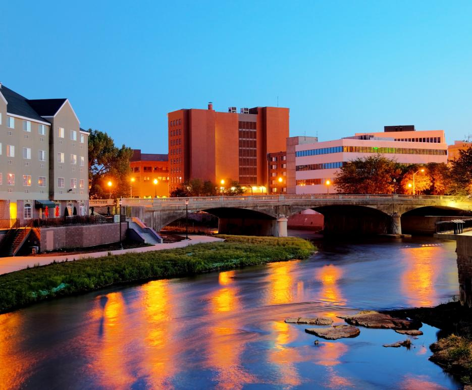 River in Sioux Falls, SD