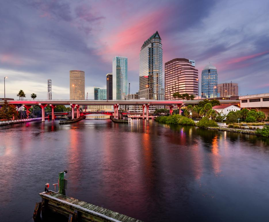 City scape in Tampa, Florida