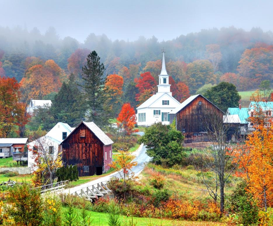Small-town in Vermont