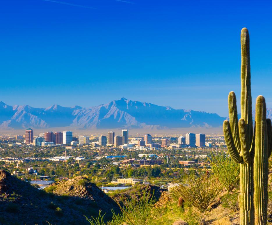 Phoenix, Arizona skyline view during the day