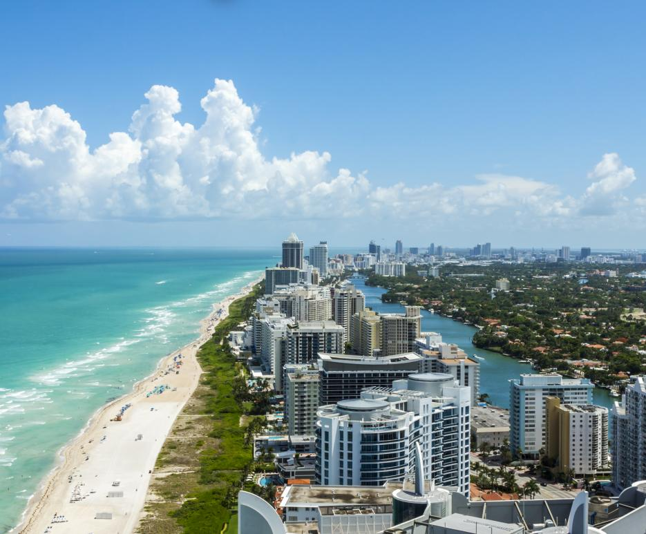 Miami, Florida beach