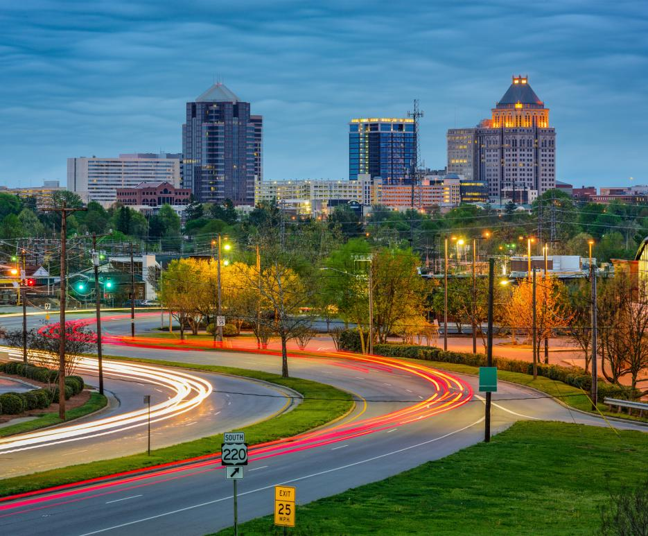 Skyline of Greensboro