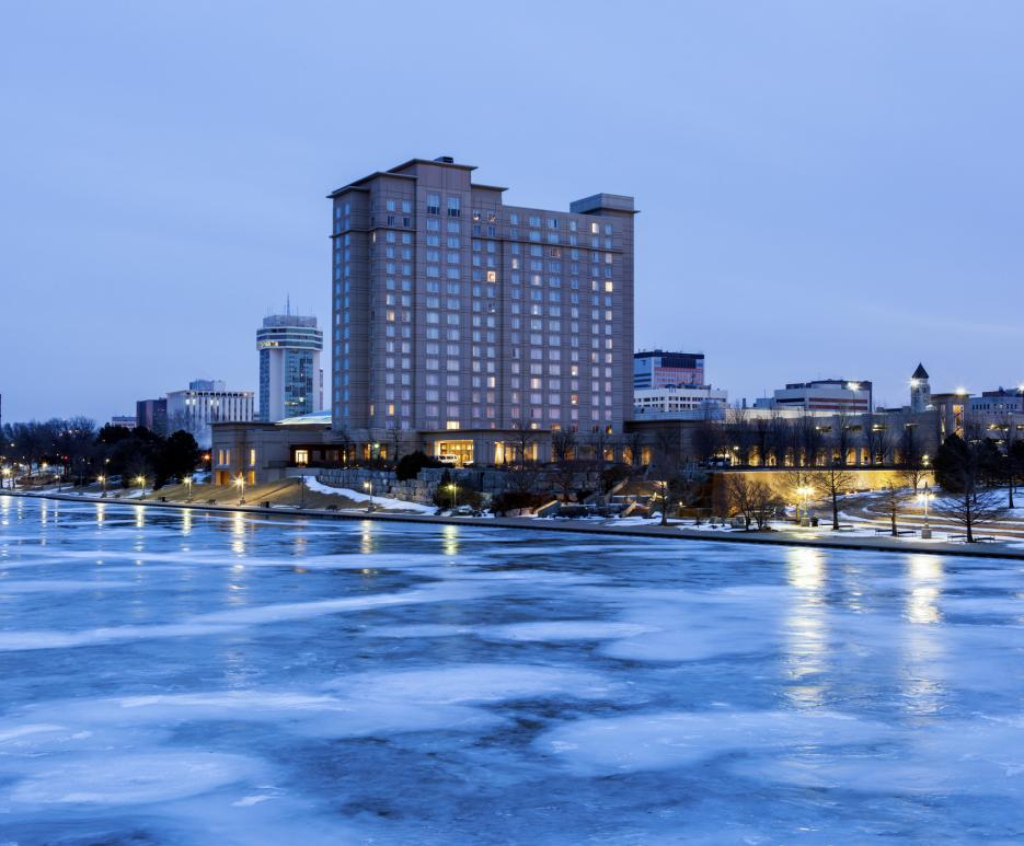 Wichita, Kansas skyline in winter
