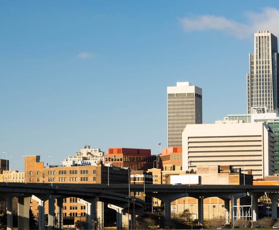 View of Omaha, Nebraska skyline