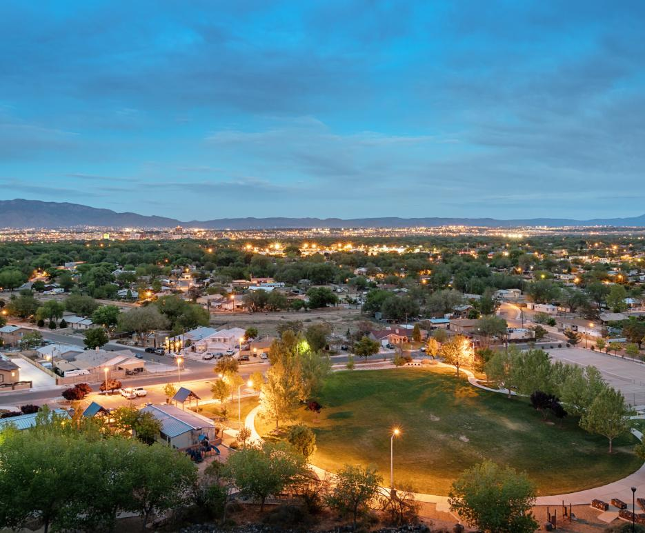 View of Albuquerque at night
