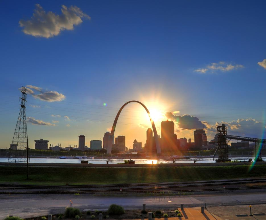 View of St. Louis Gateway Arch