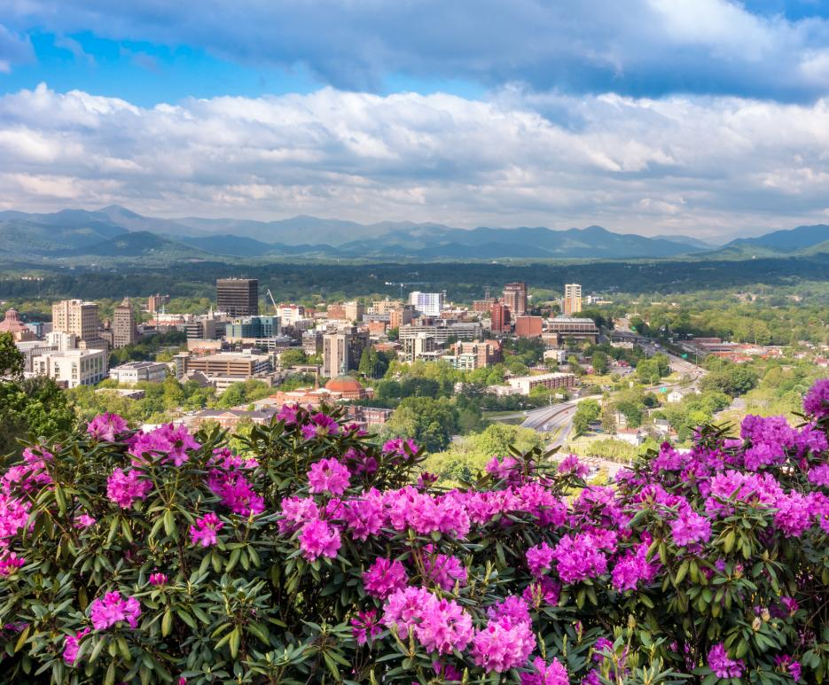 View of Asheville, North Carolina