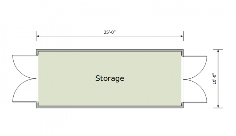 10X25ft Container Floor plan thumbnail