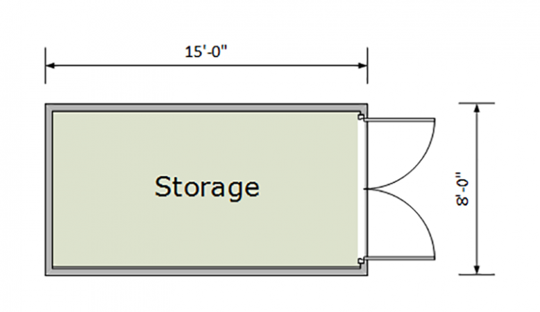 15ft Container Floorplan thumbnail