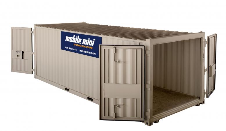 20ft Container Angled View - Open