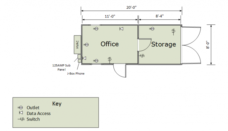20ft Combo Floorplan