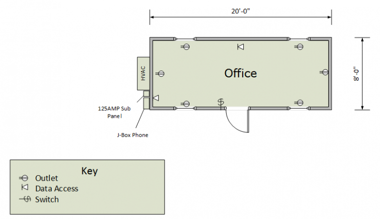 20ft Office Floorplan