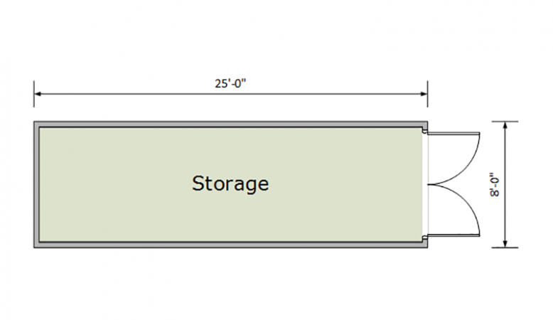 25ft Container Floorplan
