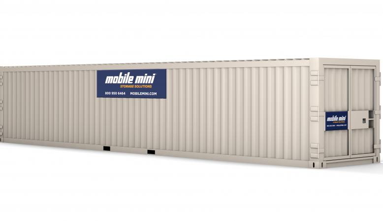 40 ft container with doors closed