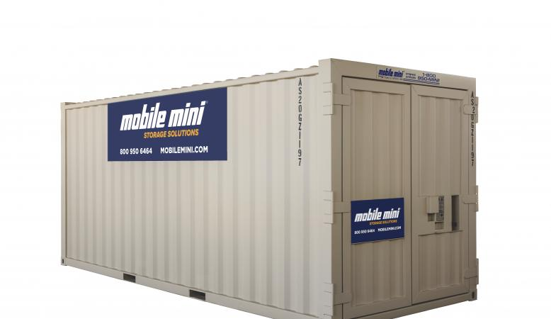 20ft Mini Storage Containers Angled View Thumbnail