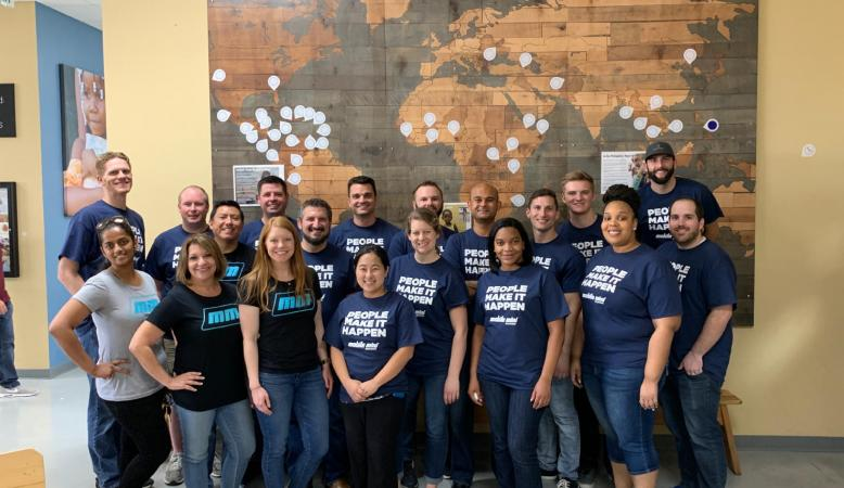 The finance team gives back